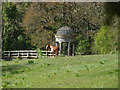 TQ0451 : Folly and Horse by Alan Hunt