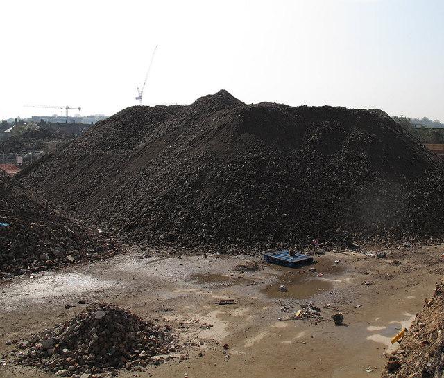 Demolition rubble, Alcatel site