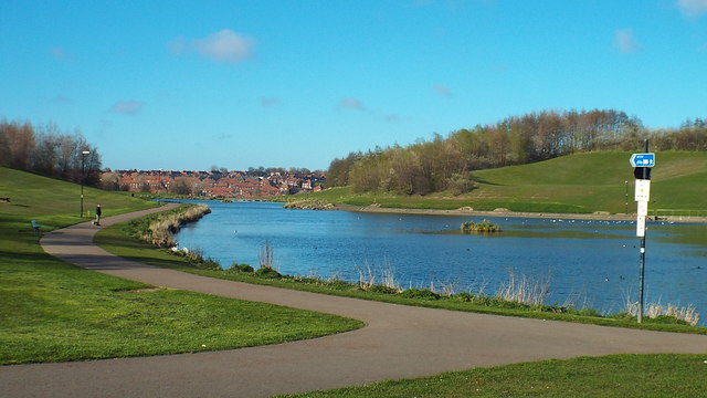 Artificial lake at Silksworth, Sunderland