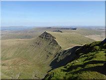 SO0121 : The view from Pen y Fan towards Cribyn by Rod Allday
