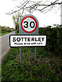 TM4484 : Sotterley Village Name sign by Adrian Cable