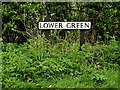 TM4584 : Lower Green sign by Adrian Cable
