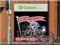 J3773 : Giro d'Italia, Oxfam, Ballyhackamore, Belfast (April 2014) by Albert Bridge