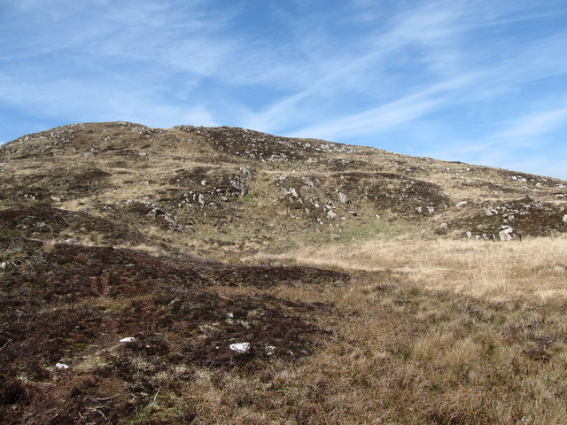 View northwards from the edge of the bog upslope towards the summit of Camlough Mountain