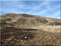 J0524 : View northwards from the edge of the bog upslope towards the summit of Camlough Mountain by Eric Jones