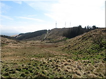 J0525 : View down the boggy valley above the 90 degree turn in the forest road by Eric Jones