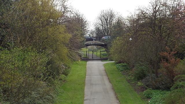 Railway path, Mowbray Park, Sunderland