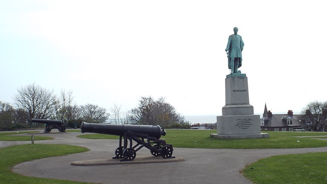 Havelock statue and cannons, Mowbray Park, Sunderland