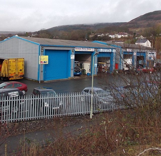 Industrial units in Cwmbach