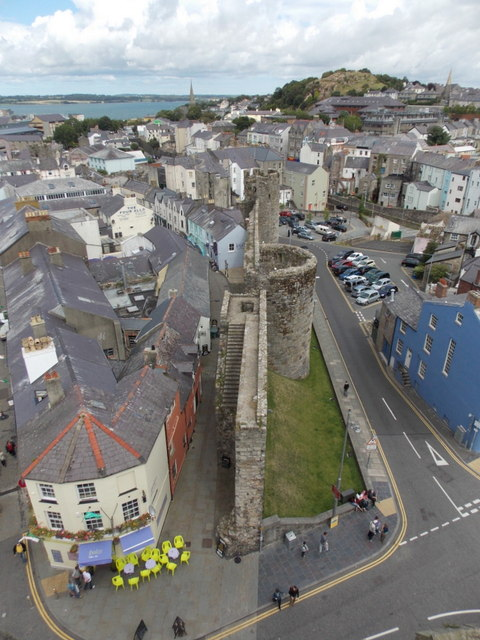 Caernarfon: along the town walls from the castle