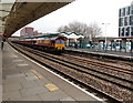 ST3088 : EWS freight train passes through Newport railway station by Jaggery