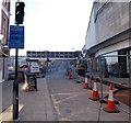 ST3188 : Upper Dock Street fences, Newport by Jaggery