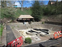 NT9953 : Alterations around the Lily Pond, Castle Vale Park by Graham Robson