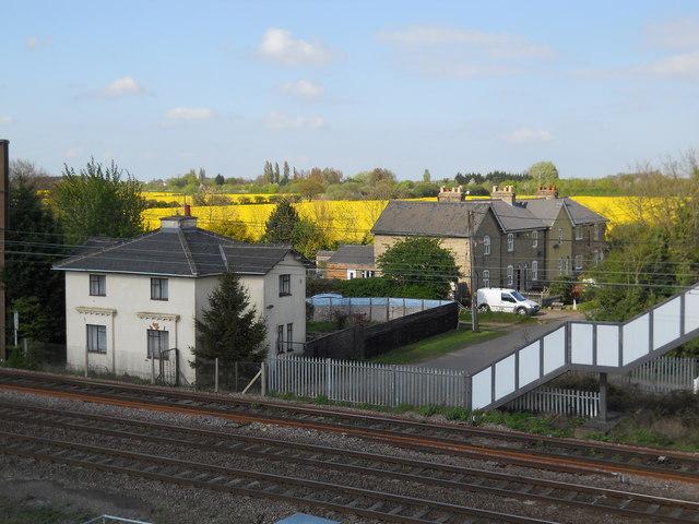 Houses on Hurn Road at Marholm Crossing
