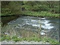 SK1172 : Weir on the River Wye by Andrew Hill