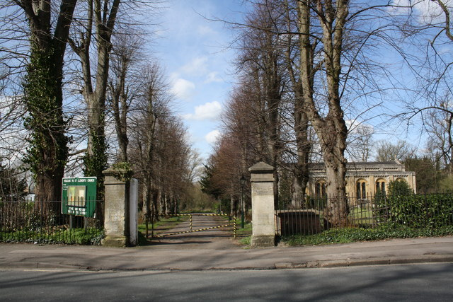 Marston Road entrance to St Clements Church