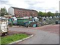 NS4870 : Dalmuir Allotments on Agamemnon Street by M J Richardson