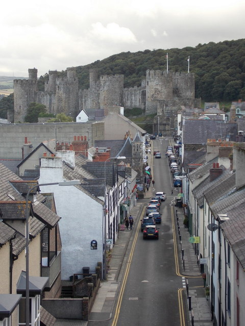 Conwy: Berry Street and Castle Street