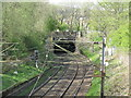 NS4871 : Railway at Clydebank by M J Richardson