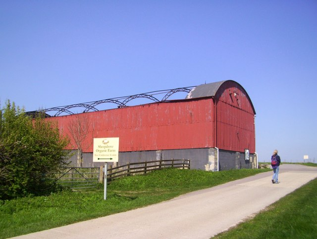 Roofless Red Barn