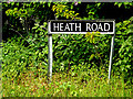 TM3991 : Heath Road sign by Adrian Cable