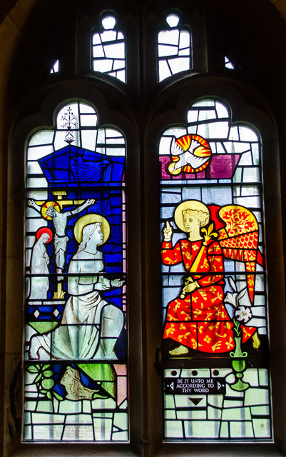 Stained glass window, St Olave's church, York
