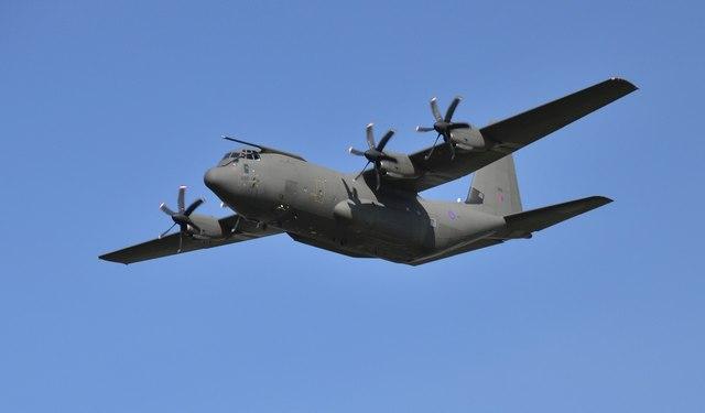 Low-level RAF Hercules