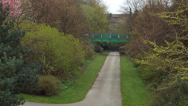 Railway path through Mowbray Park, Sunderland