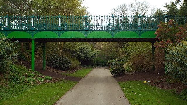 Former railway path, Mowbray Park, Sunderland