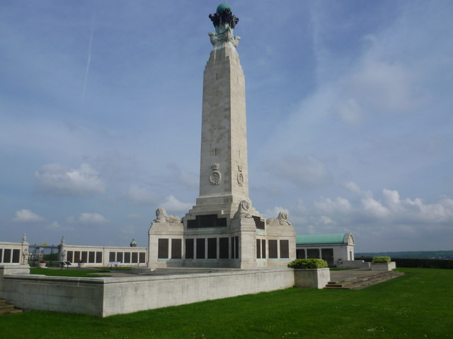 The Chatham Naval Memorial on Great Lines Heritage Park