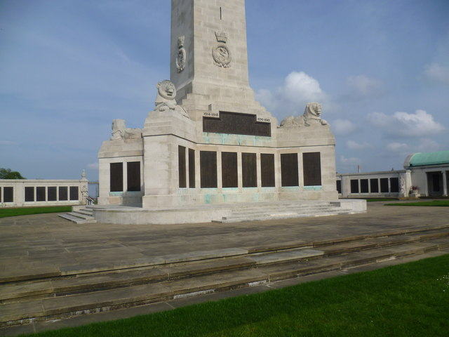 The base of the obelisk at the Chatham Naval Memorial