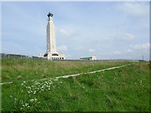 TQ7668 : The Chatham Naval Memorial seen from Great Lines Heritage Park by Marathon