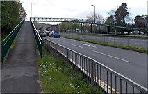 ST3091 : Ramp to a Malpas Road footbridge, Newport by Jaggery