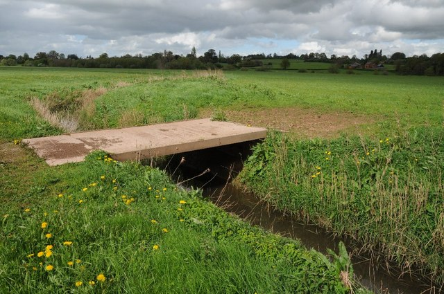 Bridge over drainage channel, Lugg Meadows