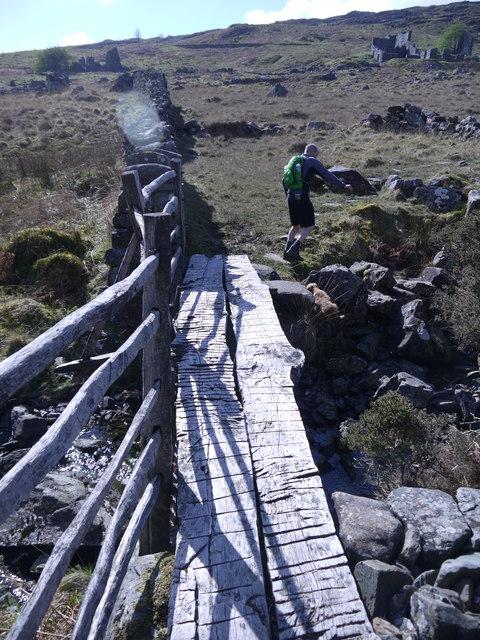 Rustic oak bridge