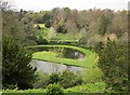SE2768 : Half Moon Pond, Studley Royal Water Gardens by Derek Harper