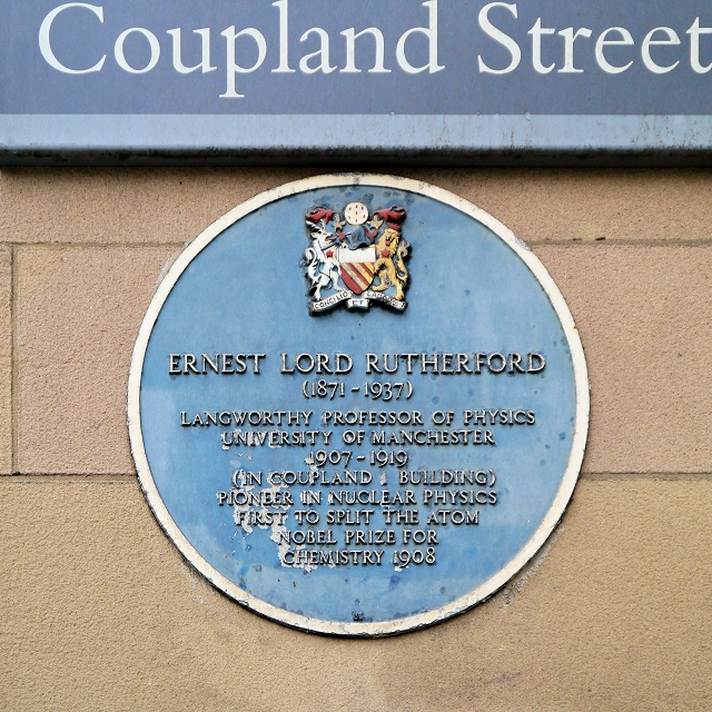 University of Manchester, Lord Rutherford Blue Plaque