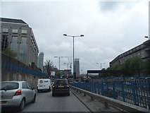 TQ3880 : Entering the Blackwall Tunnel Approach by David Howard