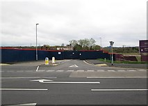 SO8171 : Entrance to proposed new Tesco store and housing estate, off Severn Road, Stourport-on-Severn, Worcs by P L Chadwick
