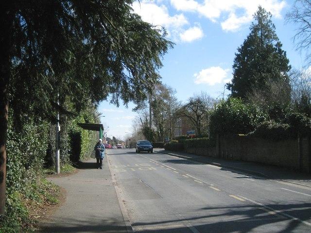Bus stop for a trip to Headless Cross, Birchfield Road, Webheath, Redditch