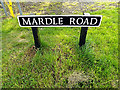 TM4394 : Mardle Road sign by Adrian Cable