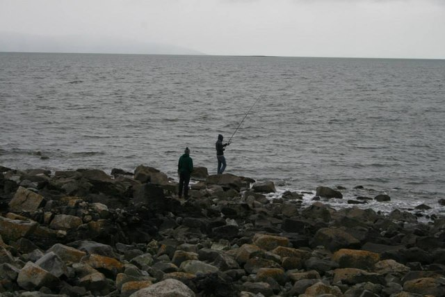 Fishing at the Western tip of Island Eddy