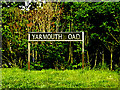 TM4394 : Yarmouth Road sign by Adrian Cable