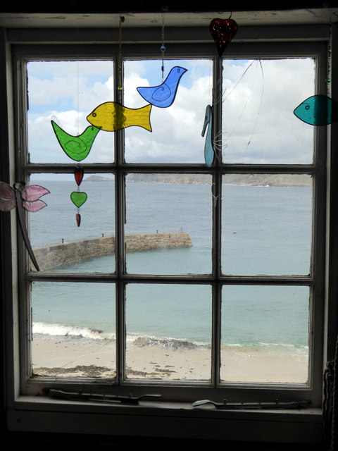 The view through the window of the Roundhouse Gallery