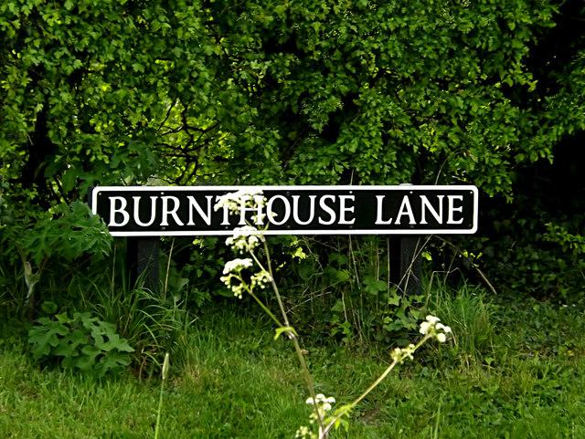 Burnthouse Lane sign