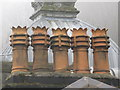 TA0487 : Chimney Pots on the Spa by Dave Pickersgill