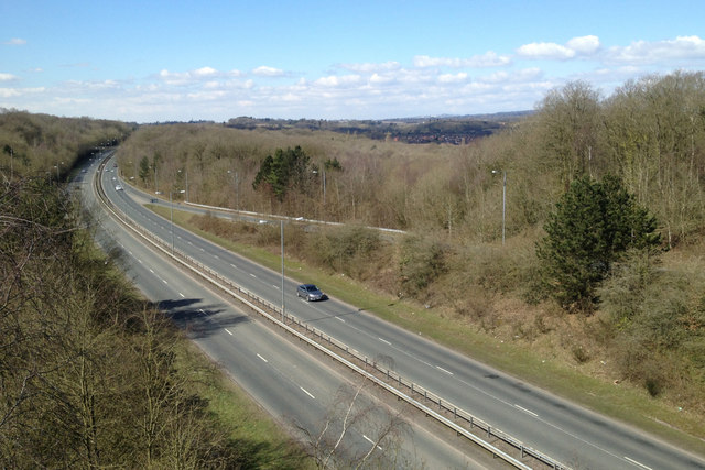 Bromsgrove Highway A448 west of the Windmill Drive interchange, Redditch