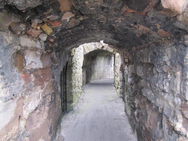 Inside Berwick Castle