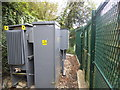 TQ2195 : Transformer by Hendon Wood Lane, Mill Hill by David Howard