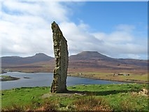 NG2547 : Standing stone above Dunvegan by Gordon Hatton